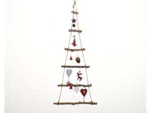 KAEMINGK Birch Xmas Tree Deco Color Red Size 34X100 cm Tree Christmas 868