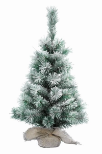KAEMINGK Snowy Vancouver Mini Tree Color Green / White Size 60Cm Tree Christmas 792