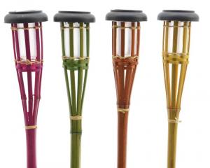 KAEMINGK Torcia Led Solare In Bamboo 54Cm Colori Assortiti Fornello Lampada 693