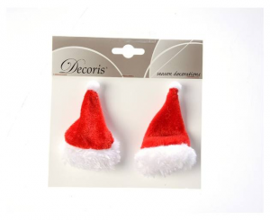 KAEMINGK Pes Hair Clip Holy Hat Color Red Size 9X5 cm Father Christmas - 946