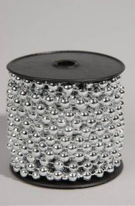 KAEMINGK Plastic Bead Garland Colour: Silver Size: 0.8X1000Cm Albero Natale 120