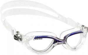 CRESSI Occhialini Flash Sil Clear/Frame Clear Blu Occhialini Nuoto Gioco 321