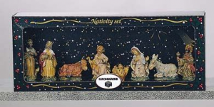 EUROMARCHI Set 8 Figures Cm 8.2 Tl Scatvetr Nativity scene - Characters And Animals Christmas 294