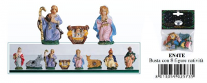 EUROMARCHI Set 8 Pieces Nativity Cm 4 Te Nativity scene - Characters And Animals Christmas 166