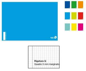 BM Quaderno Maxi A4 Rigatura 0Q Quadretti 1A 2A 3A Elementare Quaderno A4 Maxi 430