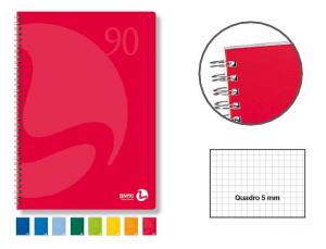 BM Blocco Spiralato A4 22,3X29,7 60 Fogli 5M Quadretti 5Mm Blocco Carta 335