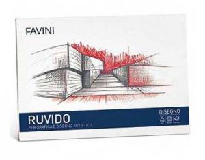 FAVINI Album Da Disegno 20 Fogli 110 Grammi 24X33Cm Ruvido Confezione 487
