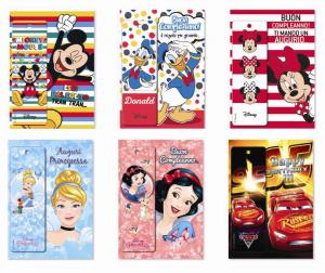 SAUL SADOCH Biglietti Disney C/Segnalibro 3D 12Pezzi Biglietto Auguri Compleanno 536
