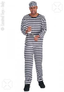 CARNIVAL TOYS Costume carcerato Tgl In Busta Costumi Completo Adulto Party 962