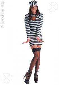CARNIVAL TOYS Costume carcerata Tgm In Busta Costumi Completo Adulto Party 814