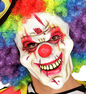 WIDMANN Maschera Mezzo Viso Killer Clown Maschera Horror Party E Carnevale Gioca 136