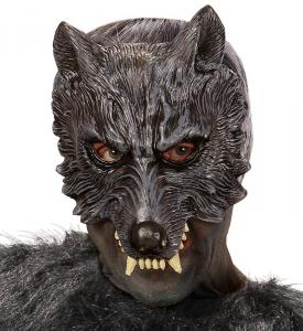 WIDMANN Maschera Senza Mento In Schiuma Di Lattice Lupo Maschera Animale 263