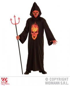 WIDMANN Costume Skeleton Devil Tunica Con Cappuccio Taglia 158 Cm / 11 13 Years 190