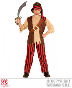 WIDMANN Pirata Camicia Con Gilet E Cintura Pantaloni Fascia Per Testa Costumi 404