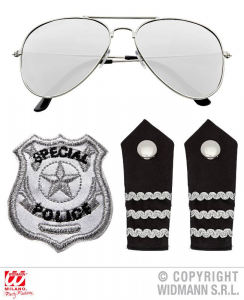 WIDMANN Set Polizia Occhiali Epauletten Distintivo Costume E Accessori 584