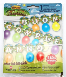 PEGASO Facile Kit Garland ferme Happy Birthday Party festons et Guirlandes 753