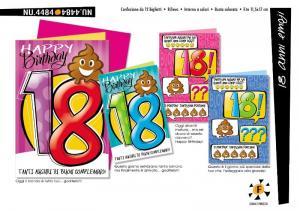 CROMO Biglietti 18 Anni Emoji Confezione Da 12 Pezzi Biglietto Auguri Compleanno 608