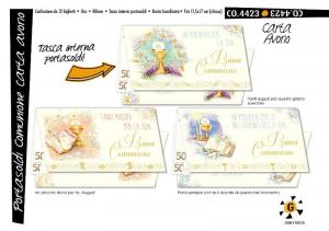 CROMO Biglietti Portasoldi Comunione Carta Avorio Confezione Da 12 Pezzi 243