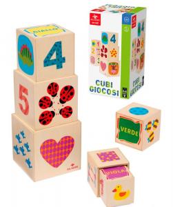 DAL NEGRO Cubi Giocosi Puzzle Incastro Prima Infanzia Giocattolo 136