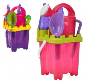 ANDRONI Set Sea Castle With Mold Palette Rake And Watering can Set S 328