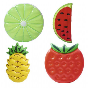 BEST WAY Materassini Assortiti: Ananas Cm 174X0,96 Limone Cm 134X134 Fragola 135