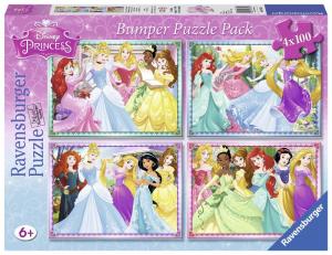 Ravensburger Puzzle 4x100 Bumper Pack Disney Princesses 206