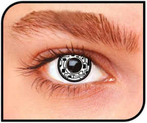 Apitalia Lenses Cyborg Pair Of Contact Lenses Halloween / Carnival Duration 1 Month 820