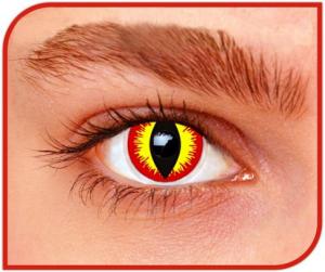 Apitalia Lenses Devil Pair Of Contact Lenses Halloween / Carnival Duration 1 Month 160