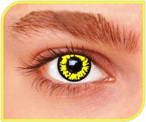 Apitalia Lenses Black Wolf Pair Of Contact Lenses Halloween / Carnival 821