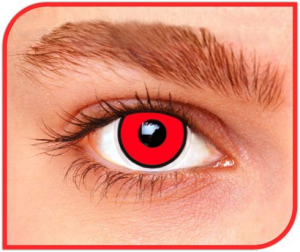 Apitalia Lenses Manson Red Pair Of Contact Lenses Halloween / Carnival Duration 240