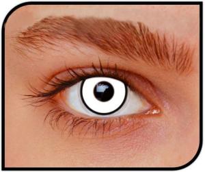 Apitalia Lenses Manson White Pair Of Contact Lenses Halloween / Carnival Durat 589
