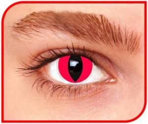 Apitalia Lens Red Cat Pair Of Contact Lenses Halloween / Carnival 168