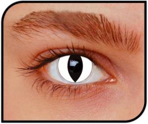 Apitalia Lenses Cat White Pair Of Contact Lenses Halloween / Carnival Duration 774