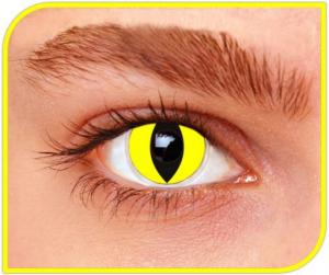Apitalia Lenses Yellow Cat Pair Of Contact Lenses Halloween / Carnival Duration 335