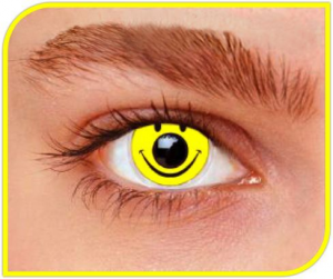 Apitalia Lenses Smiley Couple Of Contact Lenses Halloween / Carnival Duration 1 Month 182
