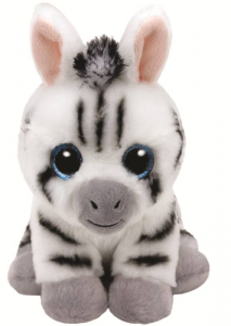 TY Beanie Babies 28Cm Stripes Zebra Animale Bosco Peluches Giocattolo 834