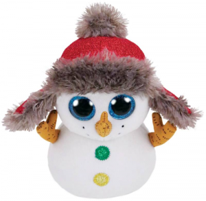 TY Beanie Boos 28Cm Buttons Pupazzo Di Neve Animale Peluches Giocattolo 319