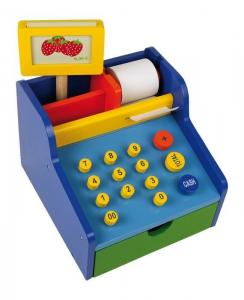 Cassa professionale in legno negozi-bancarella gioco per bambini