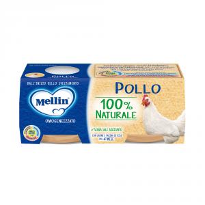 MELLIN 12 Confezioni cibi omogeneizzati carne pesce pollo 80gr 2 pezzi