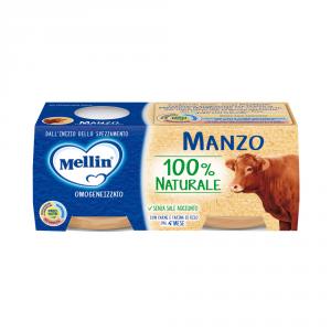 MELLIN 12 Paquetes Alimentos Homogeneizado Carne Pescado Carne 80 gr 2 Piezas
