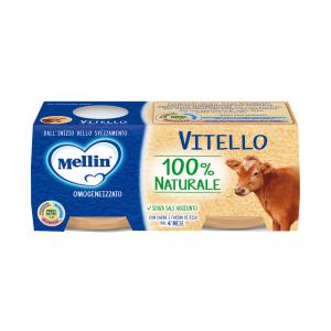 MELLIN 12 Confezioni cibi omogeneizzati carne pesce vitello 80gr 2 pezzi