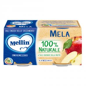 MELLIN 12 Confezioni cibi omogeneizzati frutta mela 100gr 2 pezzi