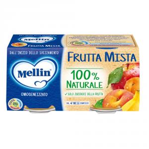 MELLIN 12 Confezioni cibi omogeneizzati frutta mista 100gr 2 pezzi