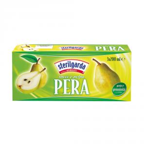 STERILGARDA 8 Confezioni nettari di frutta pera 200ml 3 pezzi