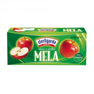 STERILGARDA 8 Confezioni nettari di frutta mela 200ml 3 pezzi