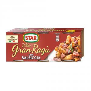 STAR 8 Confezioni sughi e condimenti salsiccia 100gr 3 pezzi