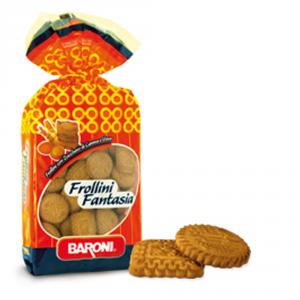 BARONI 12 Confezioni biscotti frollini fantasia con zucchero di canna 700gr
