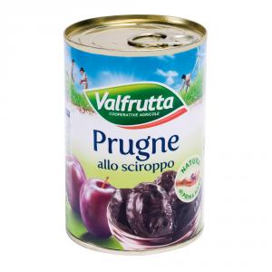 VALFRUTTA 12 Confezioni frutta in scatola prugne cotte 225gr