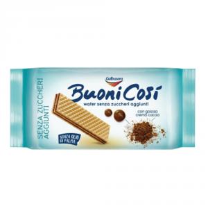 GALBUSERA 12 Confezioni wafer buoni cosi con crema al cacao e senza zucchero 175gr