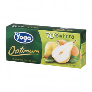 YOGA 8 Confezioni nettari di frutta succo brik pera 200ml 3 pezzi